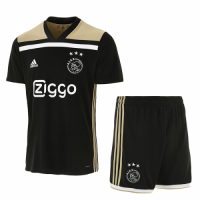18-19 Ajax Away Black Soccer Jersey Kit(Shirt+Short) picture and image