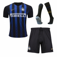 18-19 Inter Milan Home Soccer Jersey Whole Kit(Shirt+Short+Socks) picture and image