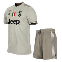 18-19 Juventus Away Gray Soccer Jersey Kit(Shirt+Short) picture and image