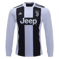 18-19 Juventus Home White Long Sleeve Soccer Jersey Shirt picture and image