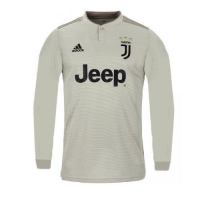 18-19 Juventus Away Gray Long Sleeve Soccer Jersey Shirt picture and image
