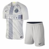 18-19 Inter Milan Third Away Gray Soccer Jersey Kit(Shirt+Short) picture and image