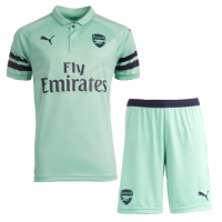 18-19 Arsenal Third Away Green Soccer Jersey Kit(Shirt+Short) picture and image