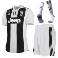 18-19 Juventus Home Soccer Jersey Kit(Shirt+Short) picture and image
