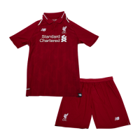 18-19 Liverpool Home Children's Jersey Kit(Shirt+Short) picture and image
