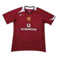 2006 Manchester United Home Red Retro Jerseys Shirt picture and image