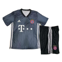 18-19 Bayern Munich Third Away Navy Children's Jersey Kit(Shirt+Short) picture and image