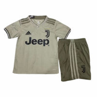 18-19 Juventus Away Light Gray Children's Jersey Kit(Shirt+Short) picture and image