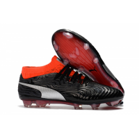 PM One 18.1 Syn FG Soccer Cleats-Black&Orange picture and image