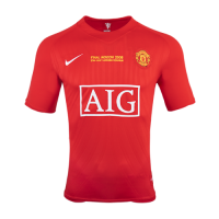 07-08 Manchester United Home Retro Jersey Shirt picture and image