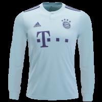 18-19 Bayern Munich Away Mint Green Long Sleeve Jersey Shirt picture and image